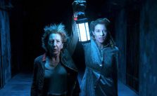 Lin Shaye and Tessa Ferrer in Insidious: Chapter 4