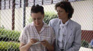 Susan Sarandon and Roberta Maxwell in Dead Man Walking
