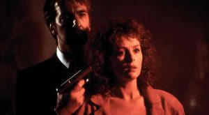 Alan Rickman and Bonnie Bedelia in Die Hard