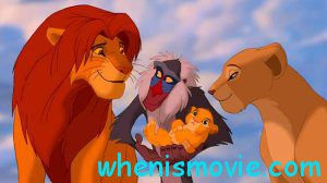 The Lion King with his family