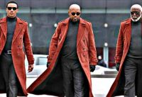 Shaft promo: men in red coats
