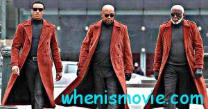 Shaft promo: men in red coats