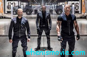 Jason Statham, Idris Elba, and Dwayne Johnson in Fast & Furious presents: Hobbs & Shaw