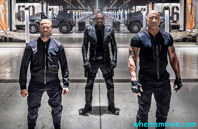 Jason Statham, Idris Elba, and Dwayne Johnson in Fast & Furious presents: Hobbs & Shaw